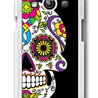 Personalized Sugar Skull Bone Paisley/day of the dead- Samsung Galaxy S3 Case Samsung Galaxy SIII Case ,