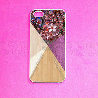 Iphone 5 Case, Cherry blossom on wood print iPhone 5 Cover, iPhone 5 Cases, Case for iPhone 5