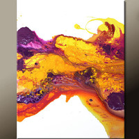 Abstract Art Canvas Painting 18x24 Contemporary Paintings by Destiny Womack - dWo - At Sunset