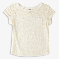 Patch Pocket Lace Tee