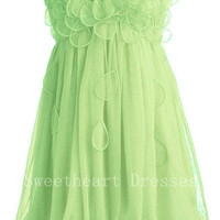 grass green Peach Petal Frock prom dresses/homecoming dresses from Cute Dress
