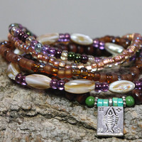 Hippie Chic Stacking Stretch Bracelets - Fish Charm  -               Tribal Gypsy