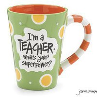 "Amazon.com: Teacher 12oz Coffee Mug/Cup with ""I'm A Teacher.What's Your Super Power?"" Great Gift for Teachers: Kitchen & Dining"