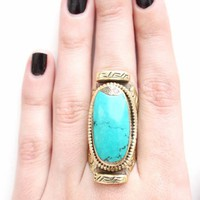 Natalie B Tibet Ring in Turquoise