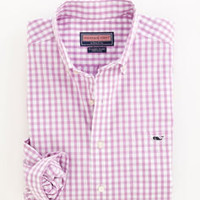 Men's Button Down Shirts: Tucker Sport Shirt: Sandy Point Gingham – Vineyard Vines