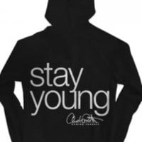 Stay Young Zip-Up Hoodie