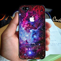 Fox Galaxy Nebula Space Stars Color  - Photo Hard Case design for iPhone 4/4s Case, iPhone 5 Case, Black or White ( Choose Option )