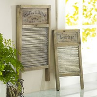 Vintage Washboards, Set of 2