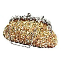 [28.96] Luxury  Gold Paillette With Austrian Rhinestones Evening Handbags /  Clutches - Dressilyme.com