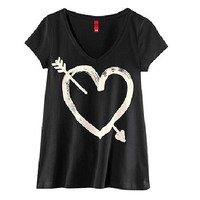 Cupid's Arrow and Heart Tshirt