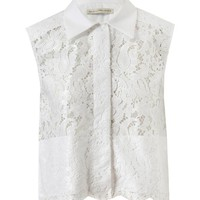 BALENCIAGA | Coated Lace Sleeveless Shirt | Browns fashion &amp; designer clothes &amp; clothing