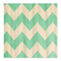 Malibu - Mint Green Chevron - Shower Curtain> Shower Curtains> cherokeerosemade