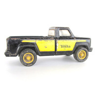Vintage Black and Yellow Tonka Pickup Truck/Child's Toy/Man Cave/Collectible