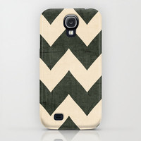 Vintage Vinyl - Black Chevron Samsung Galaxy S4 & Iphone Case by CMcDonald