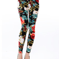 Papaya Clothing Online :: FLORAL PRINT LEGGINGS