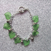 Elf Maiden Bells and Leaves Charm Bracelet