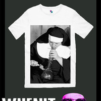 worldwide shipping just 7 days SMOKING NUN men t shirt 3081