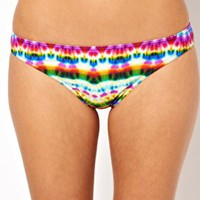 ASOS Mexican Print Brazilian Bikini Pant at asos.com