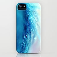 blue feather iPhone & iPod Case by Sylvia Cook Photography