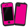 Hot Pink Skin  for the iPhone 4/4S Lifeproof Case by skinzy.com