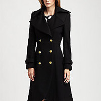 Alice + Olivia - Mariska Wool Trenchcoat - Saks Fifth Avenue Mobile
