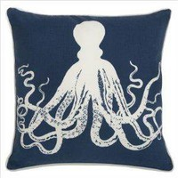 Amazon.com: Outdoor Octopus Pillow in Denim: Kitchen &amp; Dining: Reviews, Prices &amp; more