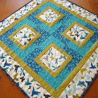 Patchwork Table Topper Butterflies and Dragonflies