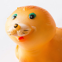 Vintage seal toy orange pup seal bath toy USSR