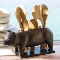 Pig Flatware Caddy