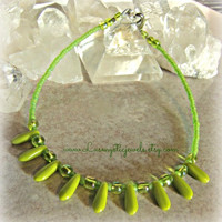 Green Anklet, Ankle, Beach, Wedding,Direct checkout,Ready to Ship