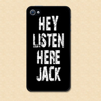 Iphone case Duck Dynasty Si Hey Listen Here Jack Iphone 4 case cool awesome Iphone 4s case