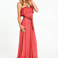 Ruffle Jersey Maxi Dress