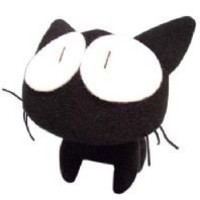 FLCL Fooly Cooly Takkun Black Cat Plush