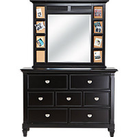 Belmar Black Dresser Mirror Set