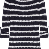 Tory Burch|Lillian striped wool and cotton-blend sweater|NET-A-PORTER.COM