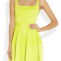 Camilla and Marc | Neon stretch-scuba flared mini dress | NET-A-PORTER.COM