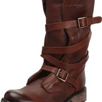 Steve Madden Women's Banddit Boot,Brown Leather,7.5 M US