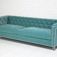 www.roomservicestore.com - Sinatra Sofa in Aqua Velvet