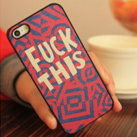 Pink Fuck This iPhone Case