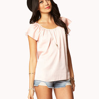 Essential Flutter Sleeve Top