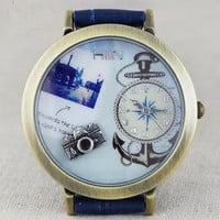 Retro Camera Anchor Watch