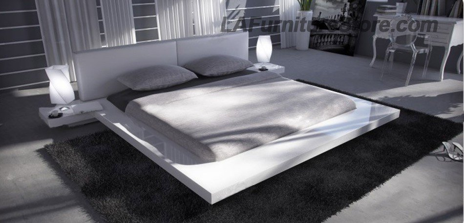 Opal white gloss japanese style from Platform bed japanese style