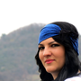Bohemian Headband Stretchy Royal Blue &amp; Black Wide by EmofoFashion