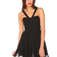 Angelina Dress - Black | NASTY GAL 
