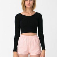 American Apparel - High-Waist Denim Short