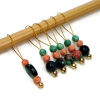 Beaded Knitting Stitch Markers Set Snag Free DIY by TJBdesigns