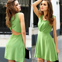 Halter chiffon dress