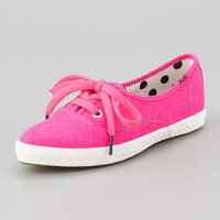 Keds Canvas Pointer Sneaker, Neon Pink