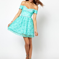Lashes Of London Skater Dress in Lace