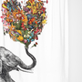 La Roccoco Happy Elephant Shower Curtain
